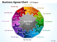 Strategic Management Business Jigsaw Diagram Chart 12 Stages Marketing Diagram