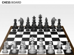 Strategic Management Chess Board Business Cycle Diagram