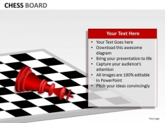 Strategic Management Chess Board Business Diagram