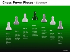 Strategic Management Chess Pawn Pieces Business Cycle Diagram