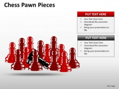 Strategic Management Chess Pawn Pieces Business Diagram