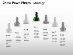 Strategic Management Chess Pawn Pieces Strategy Business Cycle Diagram