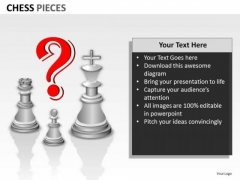Strategic Management Chess Pieces Sales Diagram