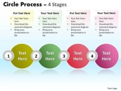 Strategic Management Circle Process 4 Stages Business Cycle Diagram