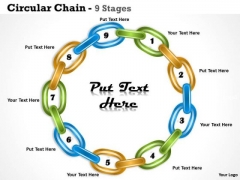 Strategic Management Circular Chain 9 Stages Business Diagram