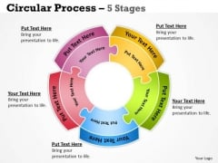 Strategic Management Circular Diagram Process 5 Stages Sales Diagram