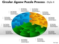 Strategic Management Circular Jigsaw Puzzle Process Business Cycle Diagram