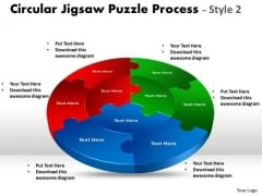 Strategic Management Circular Jigsaw Puzzle Process Style 2 Business Diagram