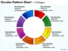 Strategic Management Circular Pattern Chart 8 Stages Business Diagram