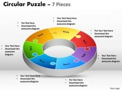 Strategic Management Circular Puzzle 7 Pieces Consulting Diagram