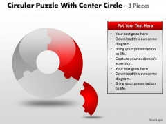 Strategic Management Circular Puzzle With Pieces Business Diagram