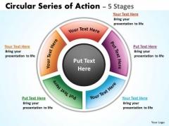 Strategic Management Circular Series Of Action Diagrams Sales Diagram