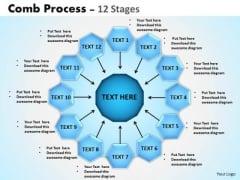 Strategic Management Comb Process 12 Stages Business Diagram