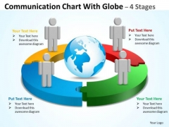 Strategic Management Communication Diagram Chart With Globe Stages Consulting Diagram
