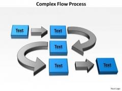 Strategic Management Complex Flow Process Business Diagram
