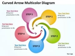 Strategic Management Curved Arrow Multicolor Diagram Sales Diagram