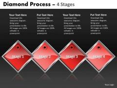 Strategic Management Diamond Process 4 Stages Sales Diagram