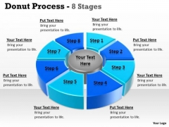 Strategic Management Donut Pie Chart For Data Comparisons 8 Stages Sales Diagram