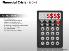 Strategic Management Financial Crisis Icons Business Cycle Diagram