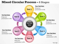 Strategic Management Flower Petal Circular Diagram With 6 Stages Consulting Diagram