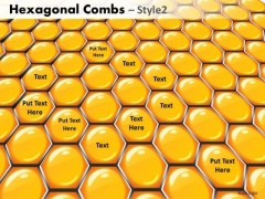 Strategic Management Hexagonal Combs Style Business Diagram