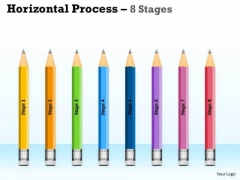 Strategic Management Horizontal Process 8 Stages Consulting Diagram