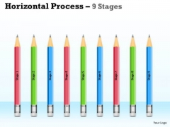 Strategic Management Horizontal Process 9 Stages Consulting Diagram