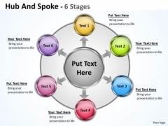 Strategic Management Hub And Spoke 6 Stages Marketing Diagram
