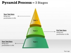 Strategic Management Independent Pyramid Process With 3 Stages Marketing Diagram