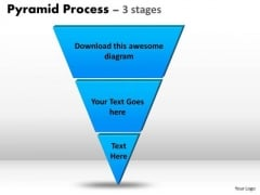 Strategic Management Inverse Pyramid With 3 Stages Strategy Diagram