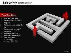 Strategic Management Labyrinth Rectangular Business Diagram