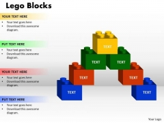 Strategic Management Lego Blocks Business Cycle Diagram