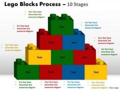 Strategic Management Lego Blocks Process 10 Stages Marketing Diagram