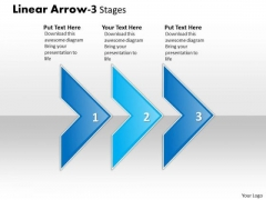 Strategic Management Linear Arrow 3 Stages Business Finance Strategy Development