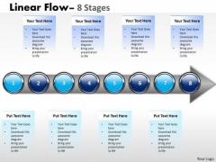 Strategic Management Linear Flow 8 Stages Sales Diagram