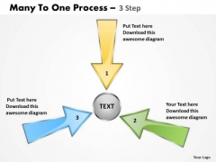 Strategic Management Many To One Process 3 Step 5 Business Diagram