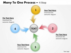 Strategic Management Many To One Process 4 Step 4 Business Diagram