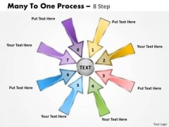 Strategic Management Many To One Process 8 Step Business Diagram