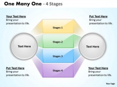 Strategic Management One Many One Stages Sales Diagram