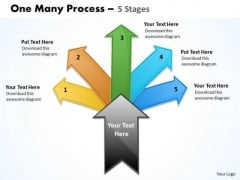 Strategic Management One Many Process 5 Stage Consulting Diagram