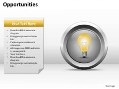 Strategic Management Opportunities Business Diagram