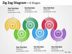 Strategic Management Oval Diagram 6 Stages Business Diagram
