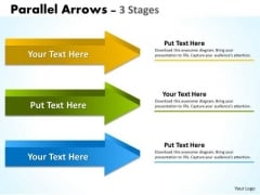 Strategic Management Parallel Arrows 3 Stages Consulting Diagram