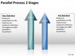 Strategic Management Parallel Process 2 Stages Business Framework Model