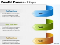 Strategic Management Parallel Process 3 Stages Strategy Diagram