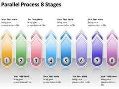 Strategic Management Parallel Process 8 Stages Sales Diagram