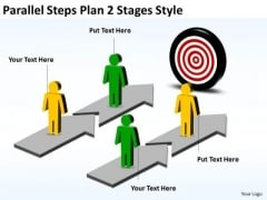 Strategic Management Parallel Steps Plan 2 Stages Style Sales Diagram