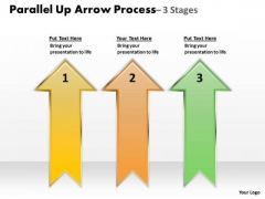 Strategic Management Parallel Up Arrow Process Business Diagram