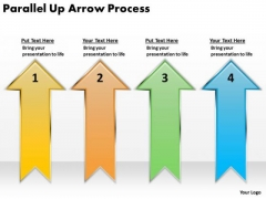 Strategic Management Parallel Up Arrow Process Consulting Diagram