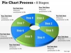 Strategic Management Pie Chart 8 Step Diagram Circular Business Diagram